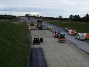 Motorway construction in Ireland