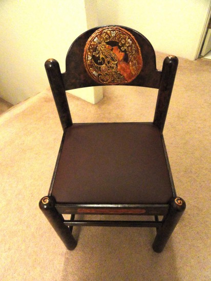 Finished Art Nouveau Charming Chair
