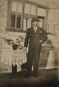 Grandfather posing proudly