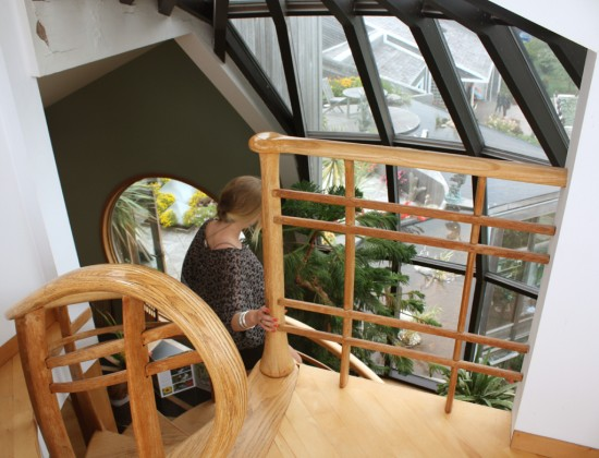 Spiral staircase at Dunes PEI