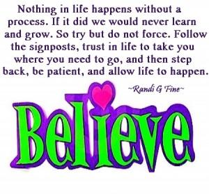 """Believe"" Randi G. Fine"