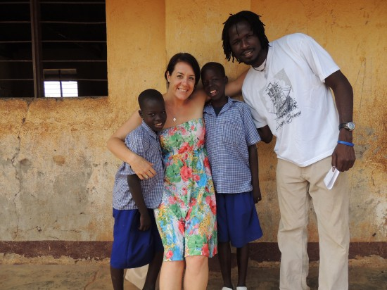 Chelsea & Morris with Alex & Isaac, brothers who were on the street, resettled and are now in school