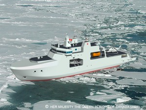 The proposed Arctic Offshore Patrol Ship (AOPS)