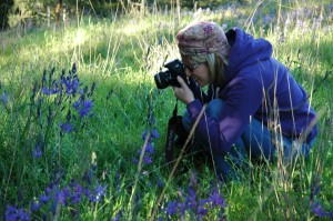 My photographer friend Lesley amidst the flowers