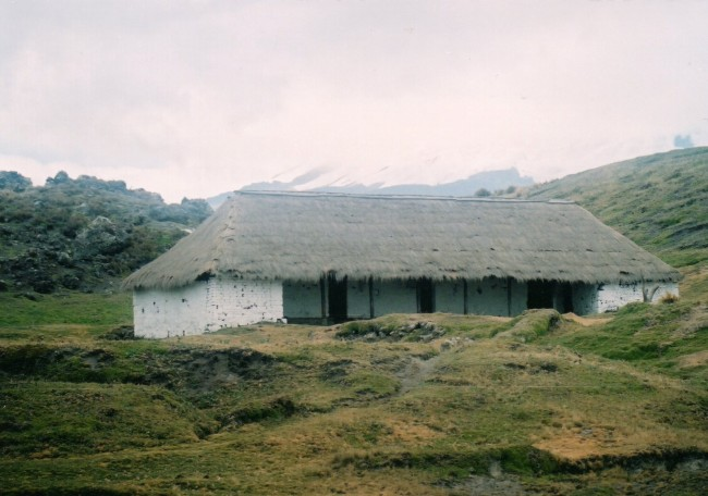German explorer and scientist Alexander von Humboldt lived in this hut during 1802 while carrying out his research around the Antisana volcano.