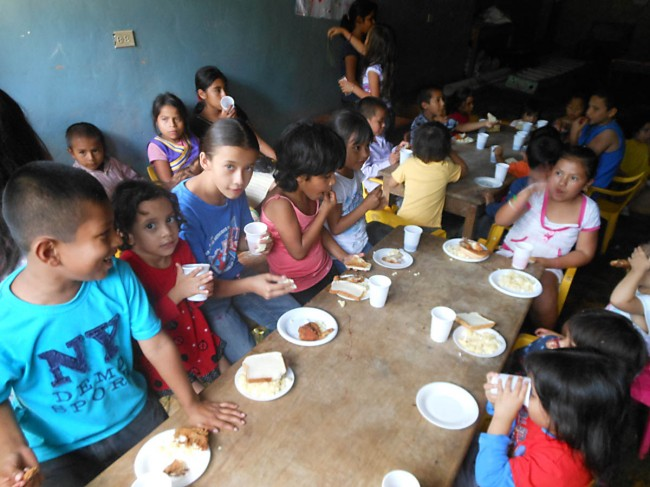 Lunch time at the Copan Ruinas orphanage