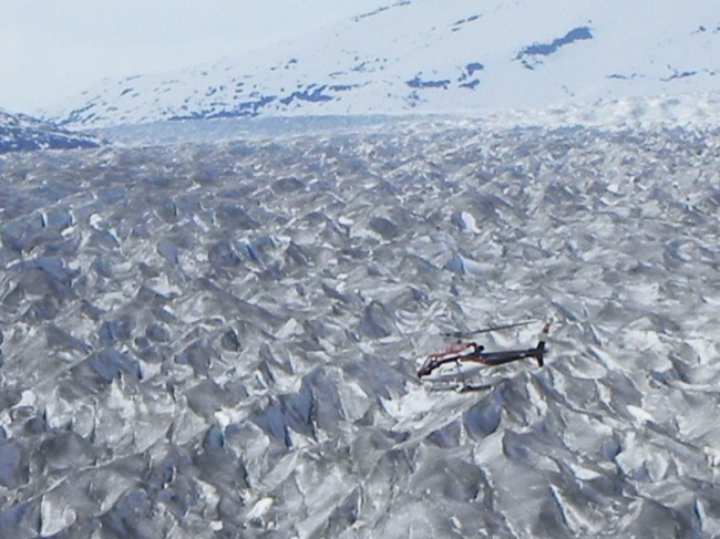 Flying over the Juneau Ice Field