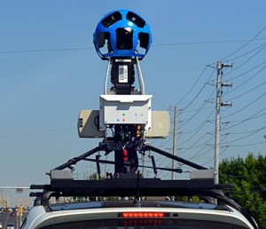 Google Street View Car - the one I saw had a black ball