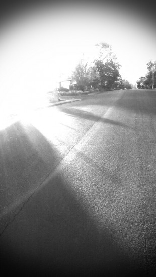 Blown Out Sunrise in Black and White