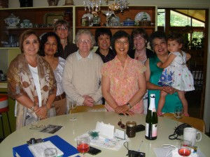 Friends gather at Joan's house
