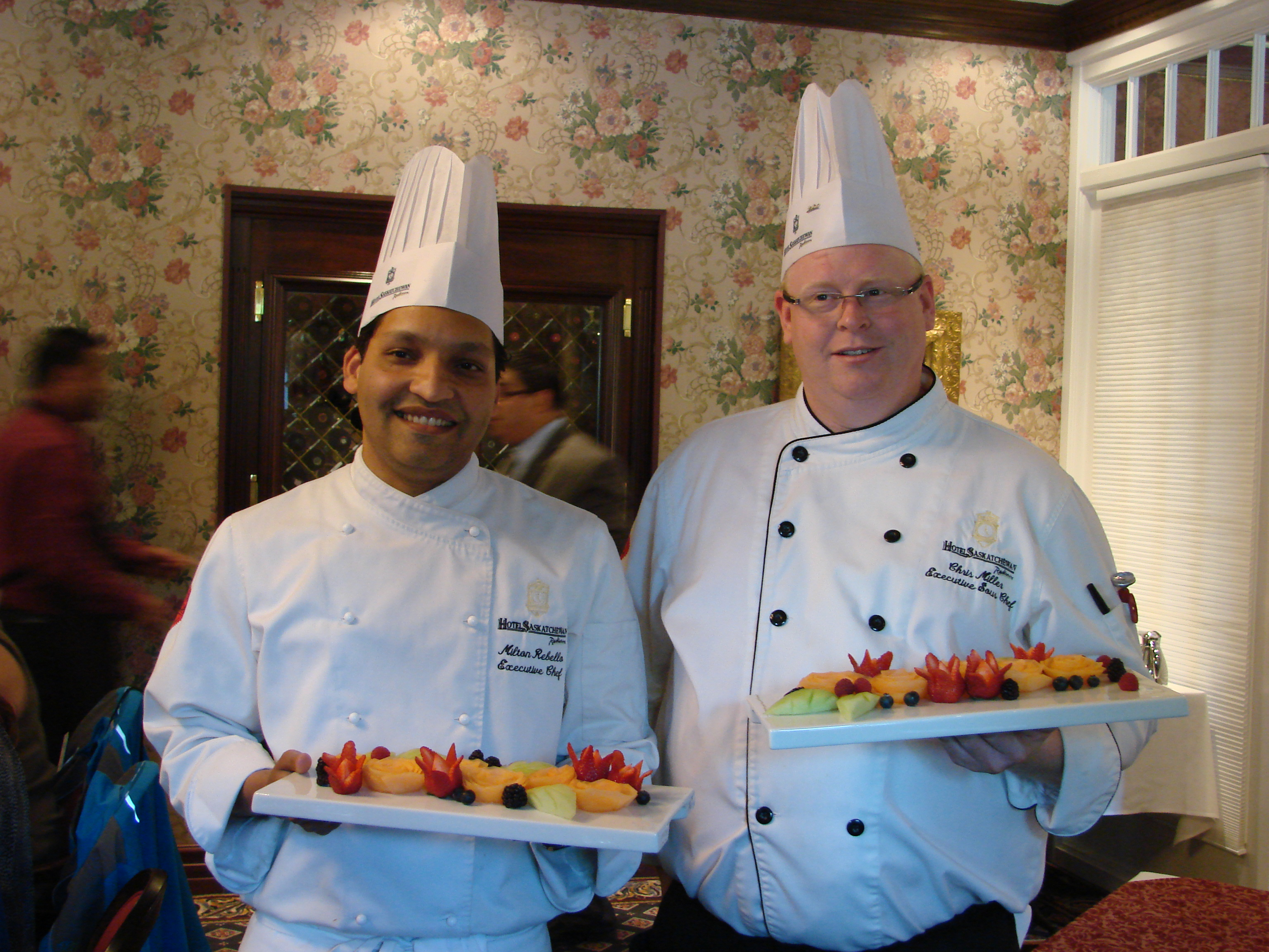 Life as a human award winning chefs at hotel saskatchewan for Chef comes to your house