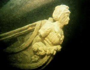 USS Hamilton's figurehead of the Roman goddess of the hunt Diana.