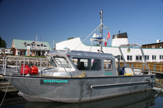 Parks Canada research vessel Investigator in Port Dalhousie.