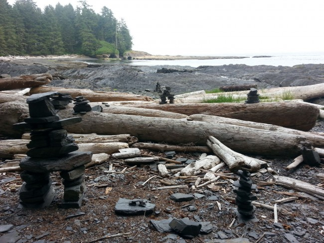 A beach access on the Juan de Fuca Trail