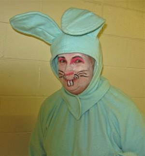 Meet the big blue bunny!