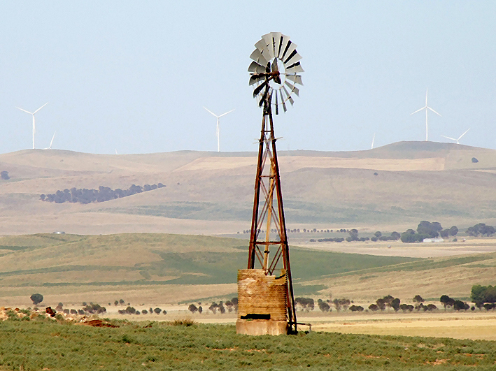 Gawler Australia  city photo : Windmill and wind turbines Hallett Gawler Ranges South Australia