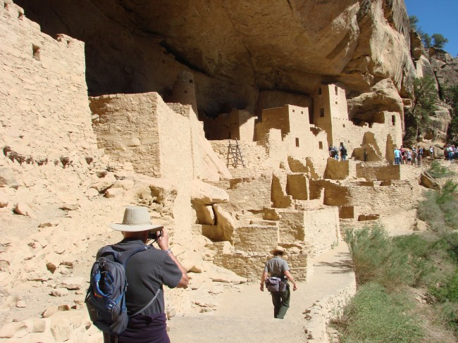Ancient cave dwellings in Mesa Verde National Park