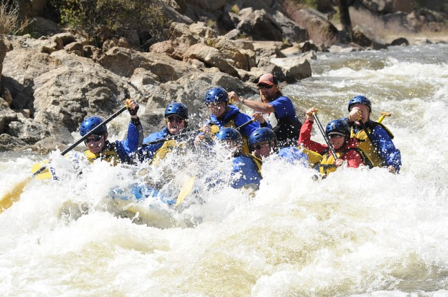 Colorado River Rafting. The authors are in the second row.