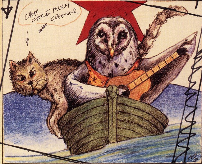 THE OWL and the PUSSYCAT © Nick Bantock
