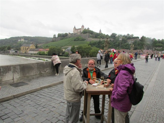 Enjoying Wine in Wurzburg