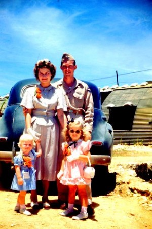 The George family on Okinawa, 1948.