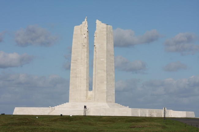 The Canadian Monument at the Canadian National Vimy Memorial site, Vimy, France.