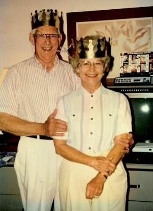 Rex and Bettie George, 50th wedding anniversary, 1991