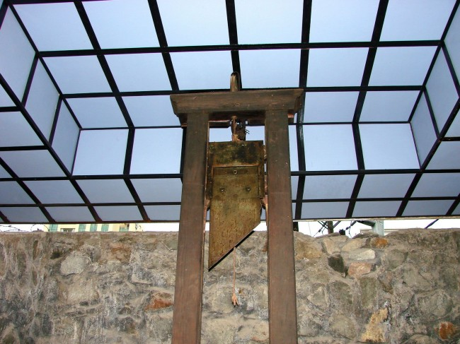 Guillotine on display in the War Remnants Museum, Hồ Chí Minh City, Vietnam.