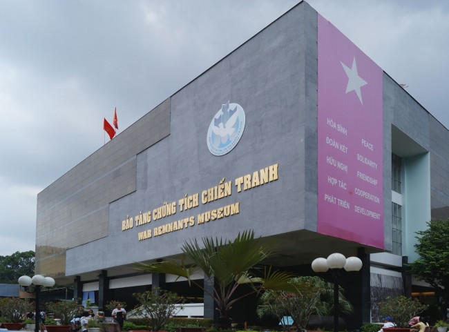 Front view of War Remnants Museum in Ho Chi Minh City