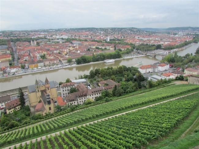 Wurzburg - Vineyards and Main River