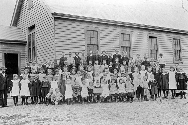 Group of Students Outside Rocky Lead State School, Victoria, circa 1900