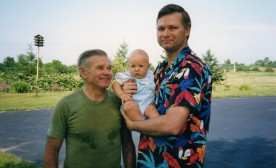 The summer of 1992, a proud, loving grandfather with his then six-month-old grandson and I.
