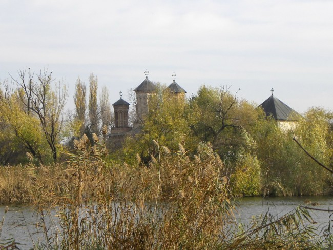 Snagov Island and monastery from bridge