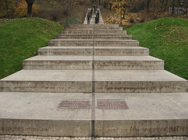 Monument to the victims of communism, sculptures by Olbram Zoubek