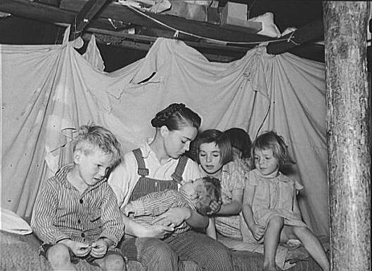 Mennonite siblings - Montana 1937