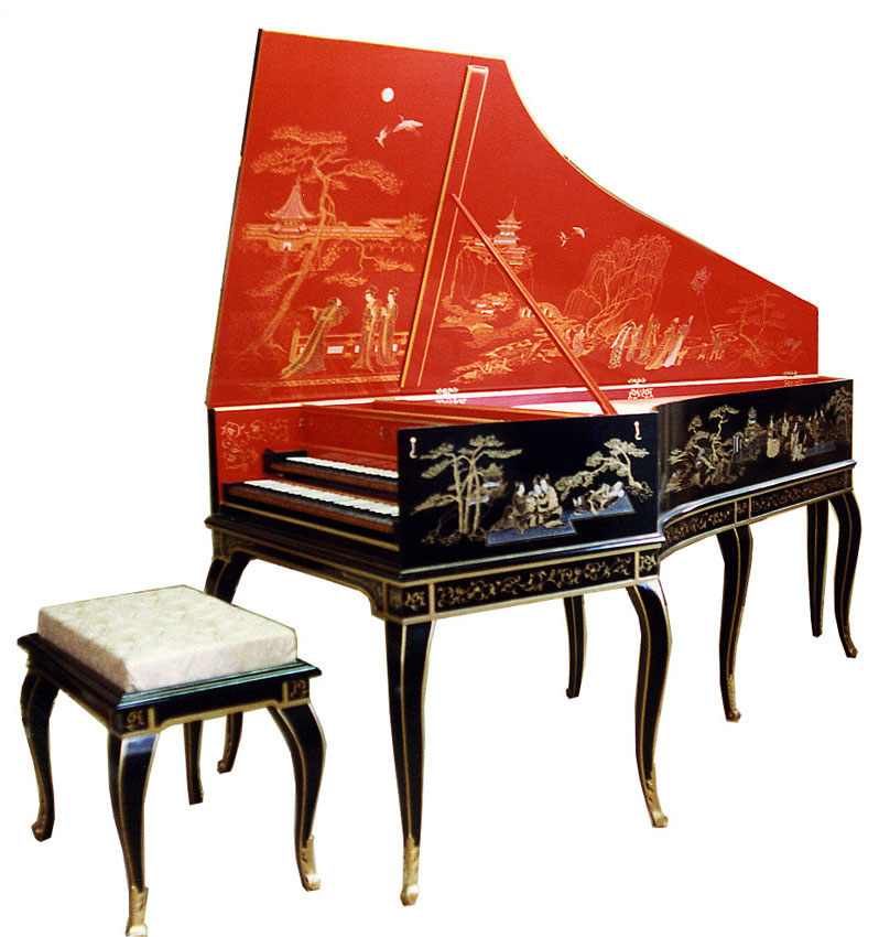 French double manual Harpsichord -