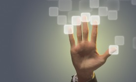 Concept of Hand with Electronic Fingerprints