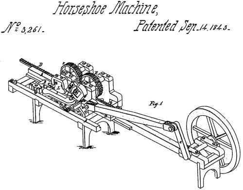The Burden horseshoe machine, a major breakthrough of the time.