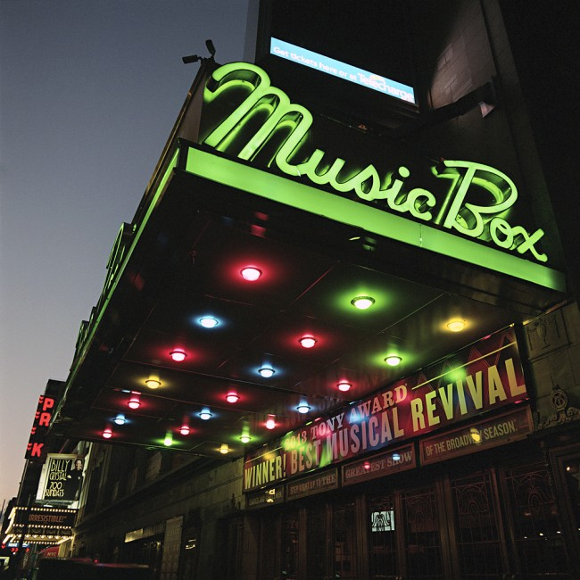 Marquee of the Music Box Theatre in New York