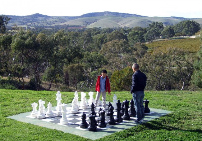 The chess board at the Novotel Barossa Valley Resort (c) Vincent Ross
