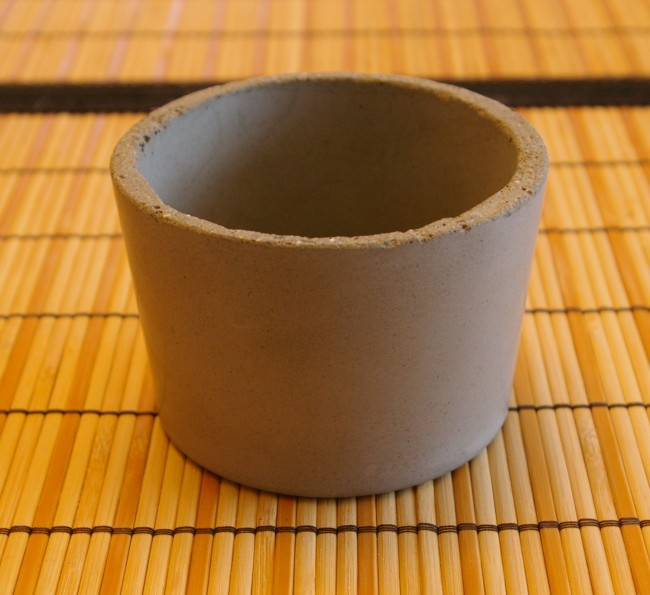 First round concrete pot attempt