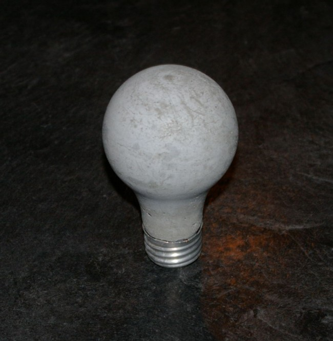 Concrete Light Bulb