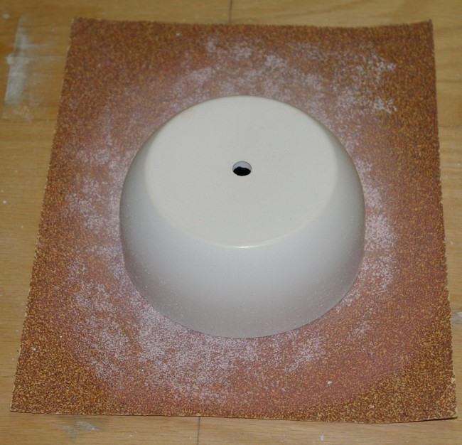 Sanding with 60 grit sandpaper