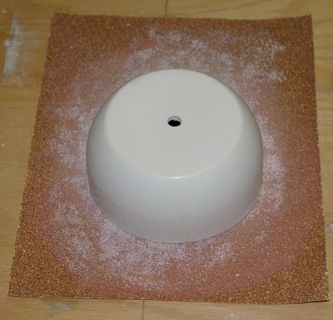 Sanding with 60 grit sandpaper