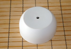 White Concrete Pot - Bottom