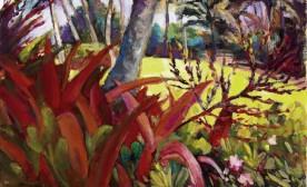 Gauguin In Hanalei, acrylic on canvas