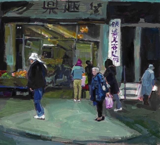 Not Kiki's Market, acrylic on canvas by Janet Vanderhoof