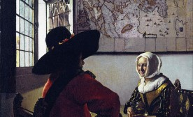 Office and a Laughing Girl by Jan Vermeer van Delft