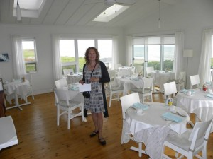 Suzie Baillargeon, proprietor of Havre-sur-Mer, in the breakfast room.