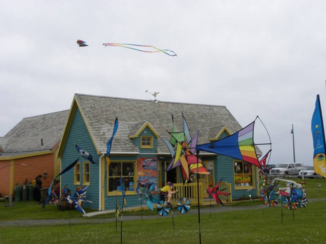 The kite boutique at Etang-du-Nord